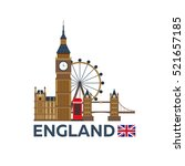 travel to england  london... | Shutterstock .eps vector #521657185