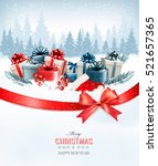 holiday christmas background... | Shutterstock .eps vector #521657365
