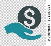 money donation icon. vector... | Shutterstock .eps vector #521657395