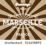 tourism greeting trip to france | Shutterstock . vector #521658895