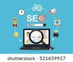 flat illustration web analytics ... | Shutterstock .eps vector #521659927