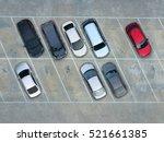 empty parking lots  aerial view. | Shutterstock . vector #521661385
