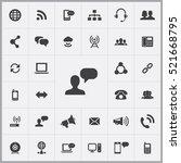 conversation icon.... | Shutterstock .eps vector #521668795