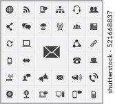 e mail icon. communication...   Shutterstock .eps vector #521668837