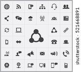 communication icons universal... | Shutterstock .eps vector #521668891
