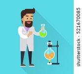 scientist at work illustration. ... | Shutterstock .eps vector #521670085