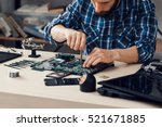 laptop disassembling with... | Shutterstock . vector #521671885