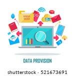 data provision banner.... | Shutterstock .eps vector #521673691