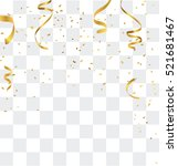 gold confetti celebration | Shutterstock .eps vector #521681467