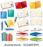 different design of book and... | Shutterstock .eps vector #521685595