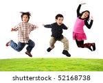 jumping kids | Shutterstock . vector #52168738