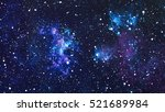starry outer space background... | Shutterstock . vector #521689984