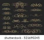 vintage decor elements and... | Shutterstock .eps vector #521690245