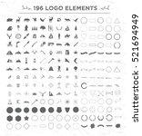big set elements for outdoor... | Shutterstock .eps vector #521694949