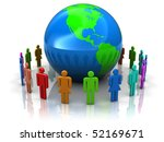 abstract 3d illustration of... | Shutterstock . vector #52169671