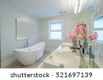 fragment of a luxury bathroom | Shutterstock . vector #521697139