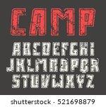 sanserif font in sport style...   Shutterstock .eps vector #521698879