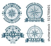 vintage nautical labels ... | Shutterstock .eps vector #521700601
