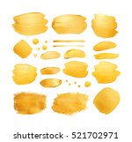 set of gold shining brush... | Shutterstock . vector #521702971