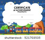 certification template with... | Shutterstock .eps vector #521703535