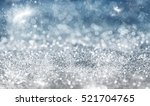magic blue holiday abstract... | Shutterstock . vector #521704765