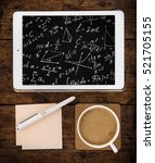 math equations against students ... | Shutterstock . vector #521705155