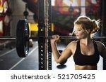 active people sport workout... | Shutterstock . vector #521705425