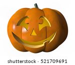 image of a laughing halloween... | Shutterstock . vector #521709691