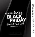 black friday sale banner | Shutterstock .eps vector #521709841