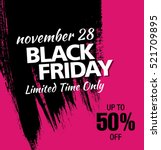 black friday sale banner | Shutterstock .eps vector #521709895
