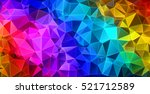colorful triangular abstract... | Shutterstock . vector #521712589