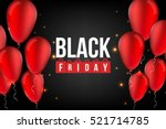 abstract vector black friday... | Shutterstock .eps vector #521714785