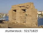 The ancient temple ruins of Elefantine island in Egypt - stock photo