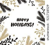 christmas frame | Shutterstock .eps vector #521718529