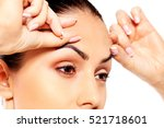 worried young woman checking... | Shutterstock . vector #521718601