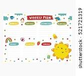 cute planner design | Shutterstock .eps vector #521721319