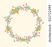 flower wreath. cute floral for... | Shutterstock .eps vector #521722399