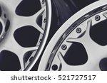 close up of rims car alloy... | Shutterstock . vector #521727517
