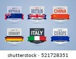 made in badges set. australia ... | Shutterstock .eps vector #521728351
