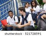 diversity students friends... | Shutterstock . vector #521728591