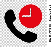 phone time icon. vector... | Shutterstock .eps vector #521729521