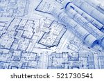 architectural project  | Shutterstock . vector #521730541