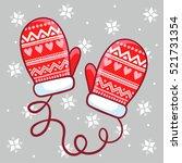 vector illustration winter... | Shutterstock .eps vector #521731354