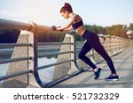 attractive and strong woman... | Shutterstock . vector #521732329