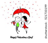 adorable couple in the sketch... | Shutterstock .eps vector #521733199