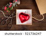 packaging christmas gifts in...   Shutterstock . vector #521736247