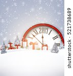 2017 new year background with... | Shutterstock .eps vector #521738689