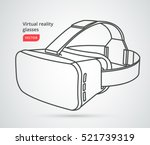 virtual reality glasses icon in ... | Shutterstock .eps vector #521739319