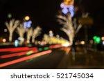 christmas festive night drive   ... | Shutterstock . vector #521745034