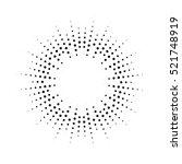 halftone effect vector... | Shutterstock .eps vector #521748919